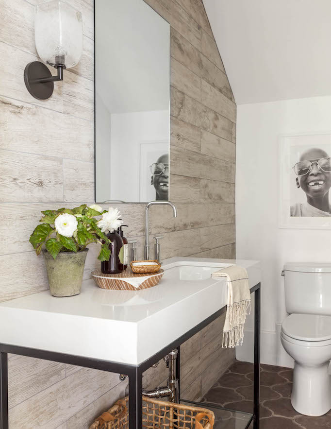 3d Grey Brick Effect Wallpaper Dream Home A California Modern Mediterraneanbecki Owens