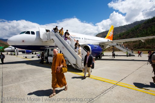 Arriving at Paro Airport
