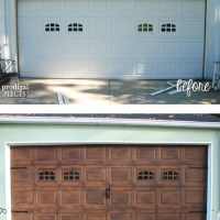 DIY: Faux Wood Garage Door Tutorial
