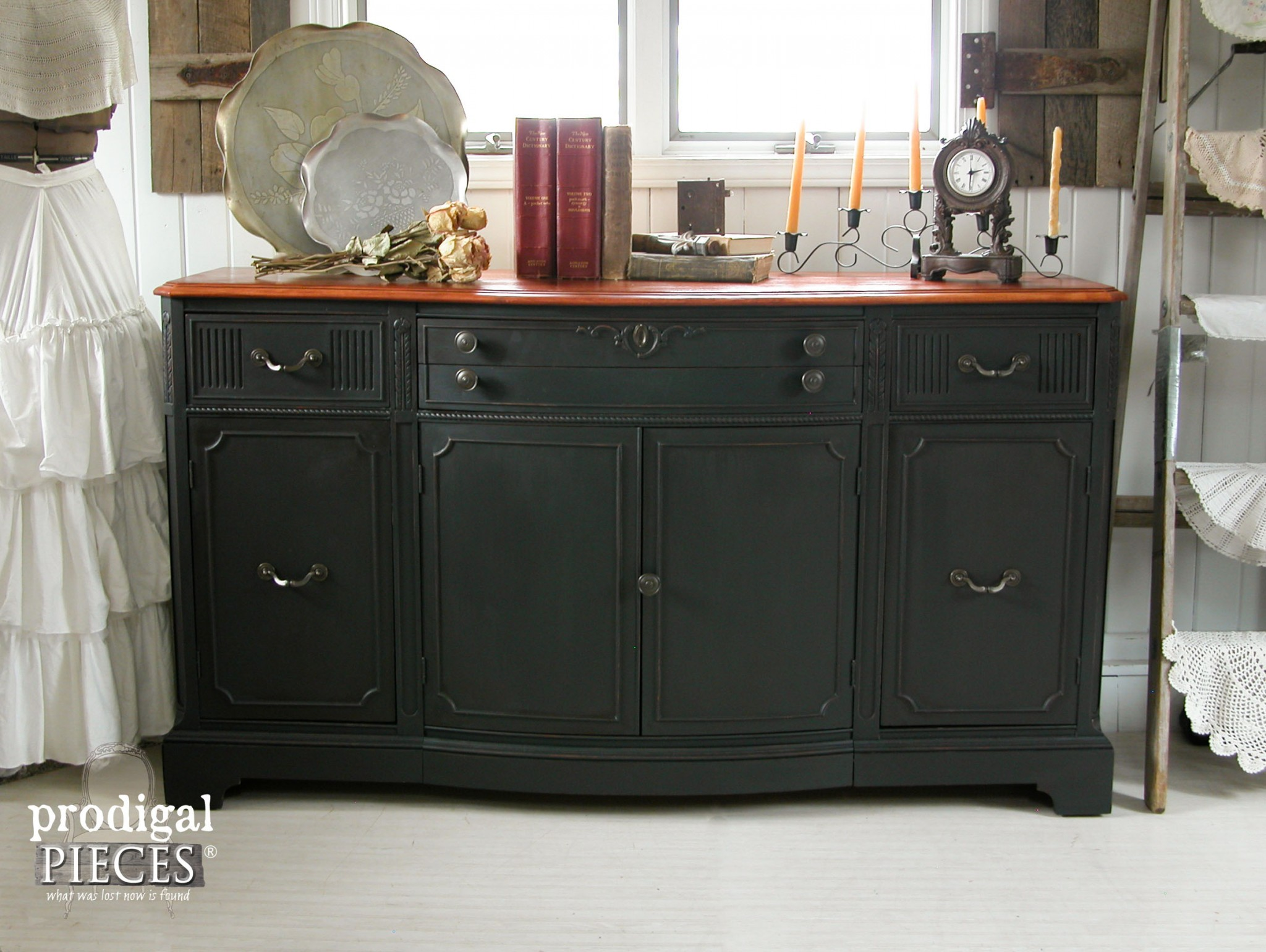 Buffet Or Sideboard Difference Buffet Makeover ~ A Night & Day Difference - Prodigal Pieces
