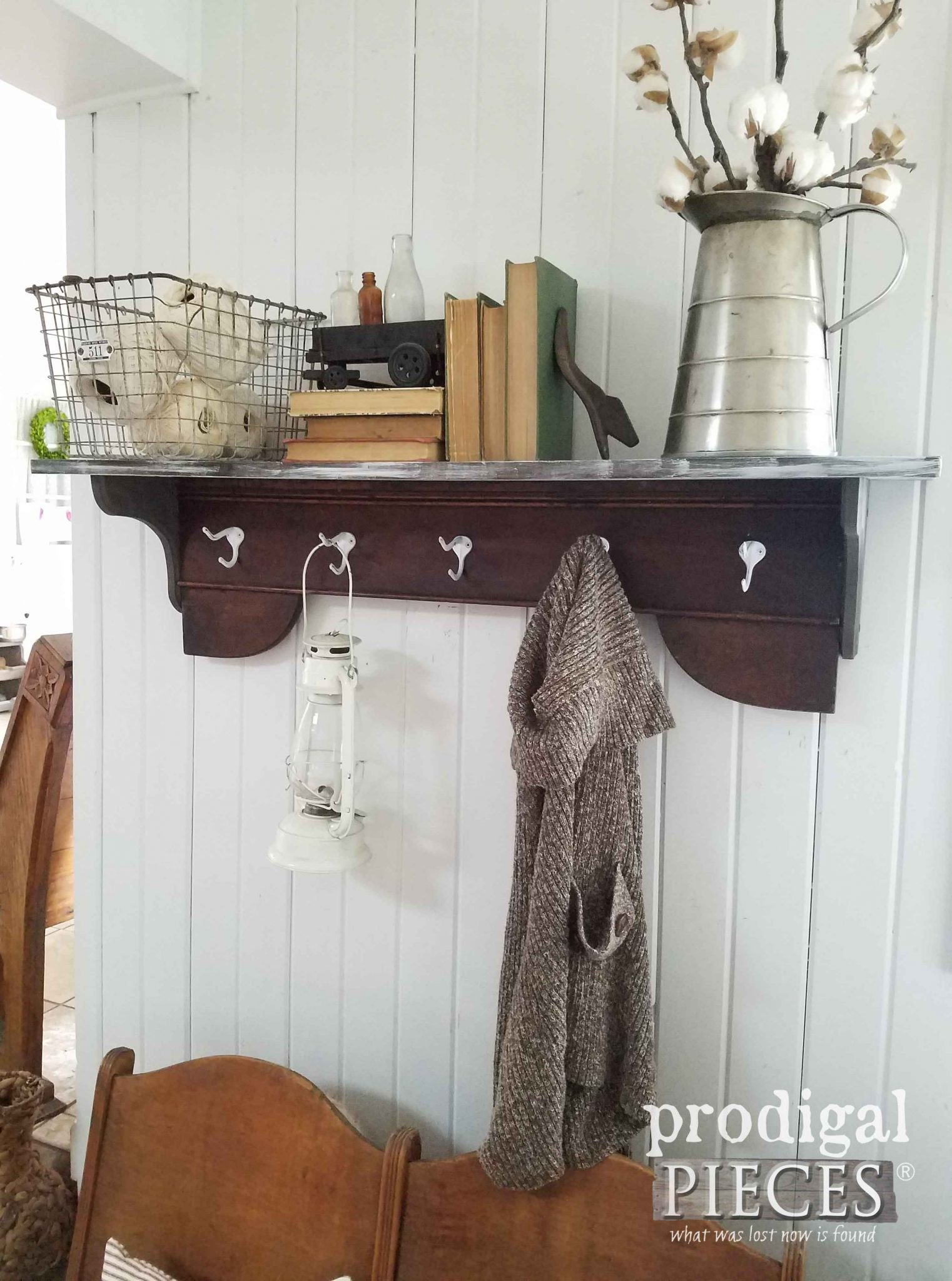 Coat Rack With Shelf Repurposed Coat Rack Diy By A Preteen Prodigal Pieces