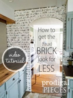 Witching Create Look Spend Half Diy Faux Brick Tutorial Budget Decor Prodigal Pieces Faux Brick Wall Diy Faux Brick Wall Paint Washed Brick