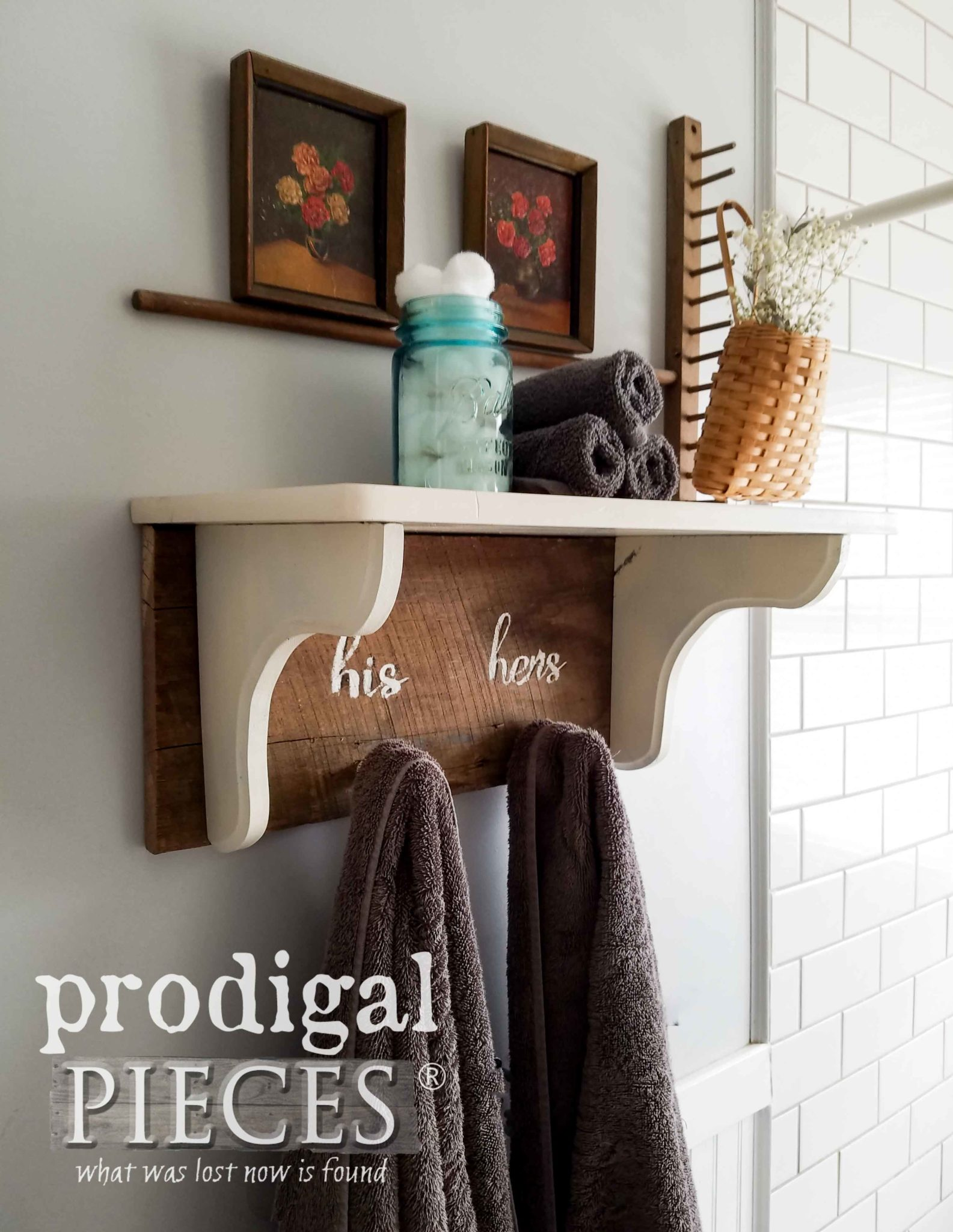Farmhouse Hand Towel Holder Repurposed Side Table Into Farmhouse Decor Prodigal Pieces