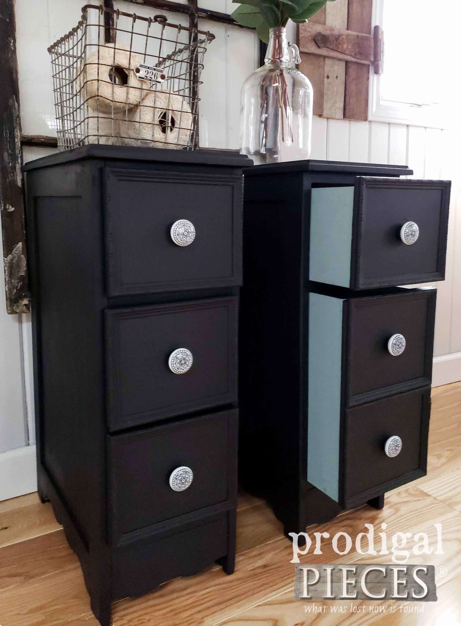Diy Farmhouse Style Desk Upcycled Desk Into Nightstands Diy Fun Prodigal Pieces
