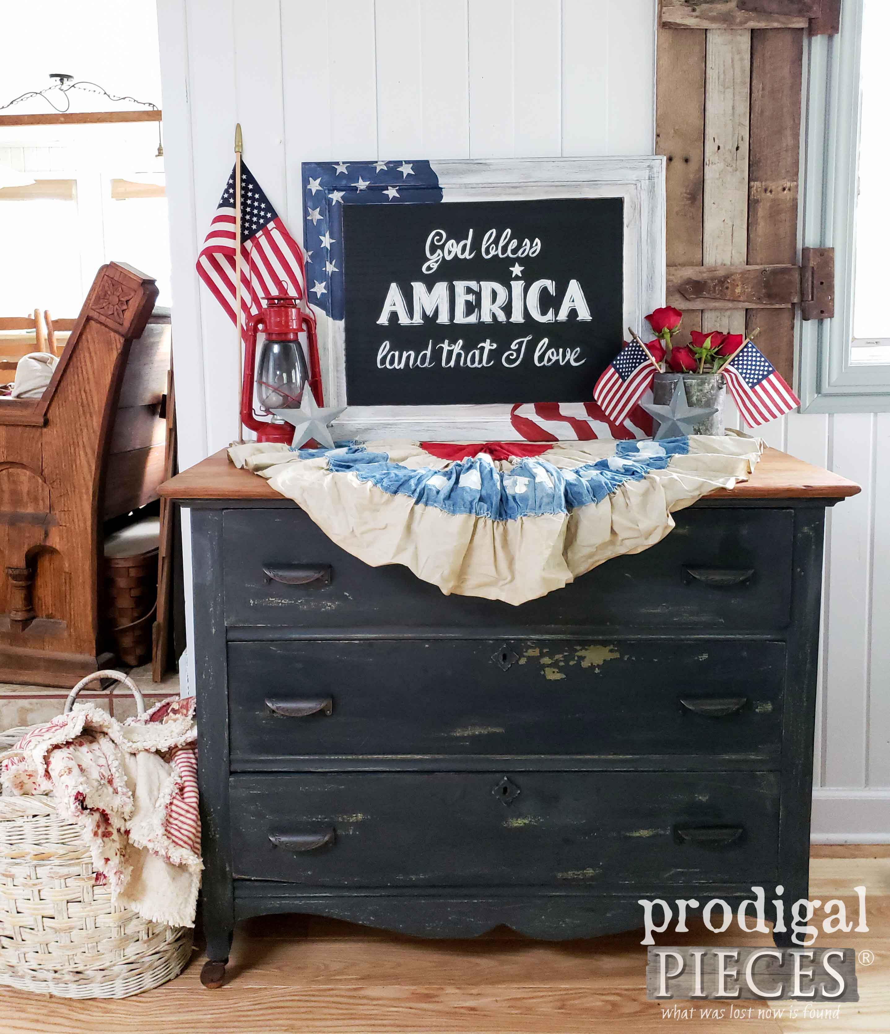 Diy 4th Of July Sign With Chalkboard Typography Prodigal Pieces