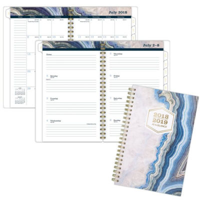 AT-A-GLANCE Sapphire Academic Weekly-Monthly Planner 38576357693