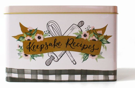 Recipe cards  tin by Lily  Val (Gingham Design) 854866007860