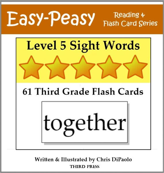 Level 5 Sight Words 61 Third Grade Flash Cards (aka Dolch Words or