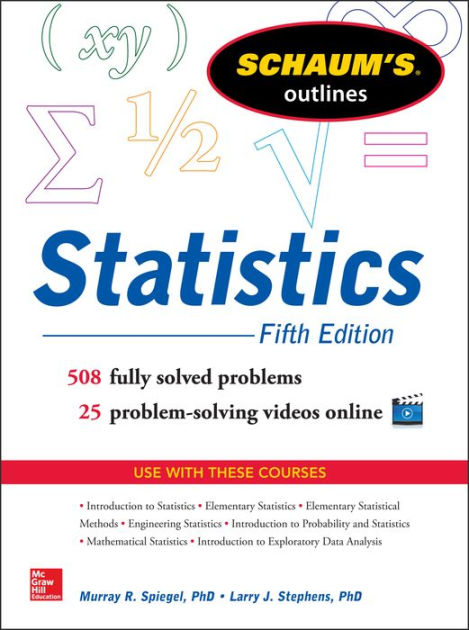 Schaum\u0027s Outline of Statistics, 5th Edition by Murray R Spiegel