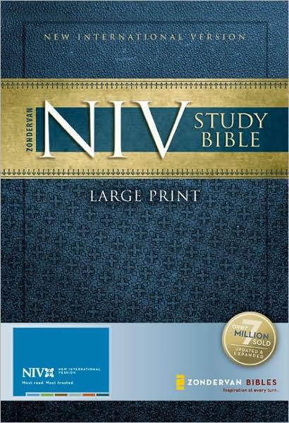 Zondervan NIV Study Bible, Large Print by Zondervan Publishing