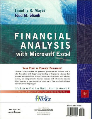 Financial Analysis with Microsoft Excel / Edition 4 by Timothy R