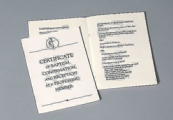 United Methodist Baptism Certificate Confirmation and Reception with