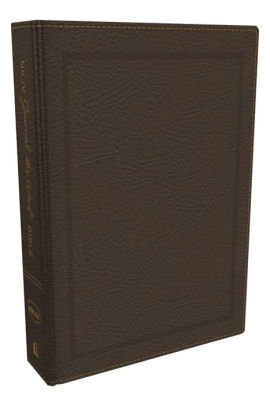 NKJV, Journal the Word Bible, Bonded Leather, Brown, Red Letter