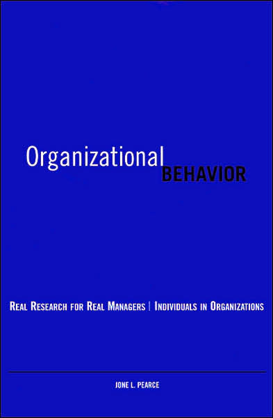 Organizational Behavior Real Research for Real Managers