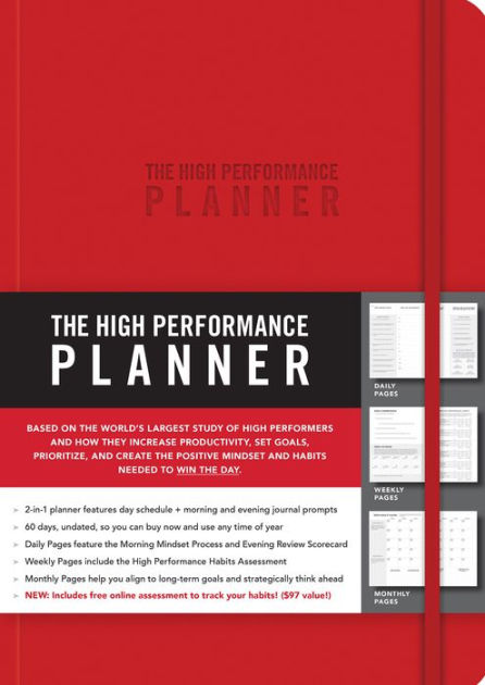 The High Performance Planner Red by Brendon Burchard, Other Format