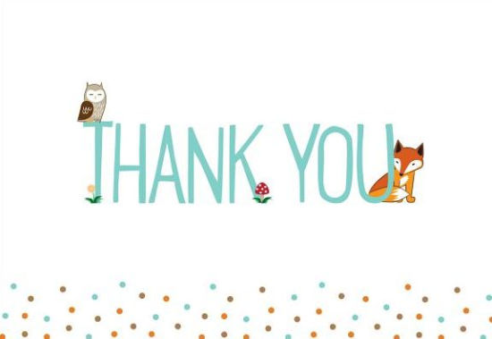 Woodland Friends Thank You Notes 9781441322326 Item Barnes