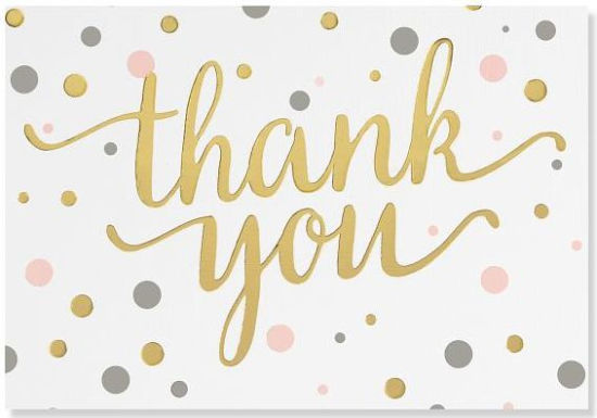 Pink and Gold Dots Thank You Notes 9781441323118 Item Barnes