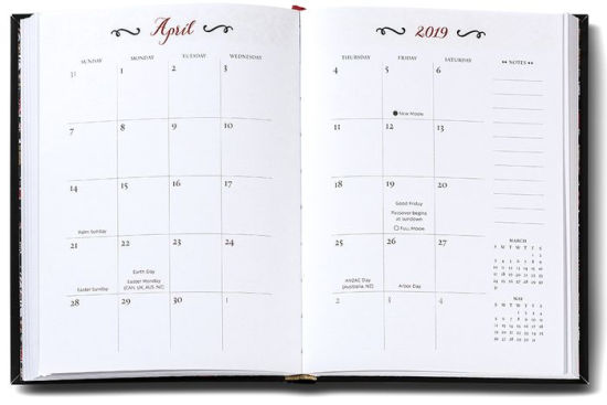 2019 High Note® Dinara\u0027s Floral in Gold Weekly Planner 18-Month