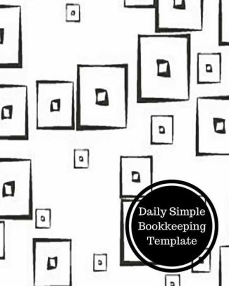 Daily Simple Bookkeeping Template by Insignia Accounts, Paperback