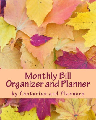 Monthly Bill Organizer and Planner Budget Planning, Financial