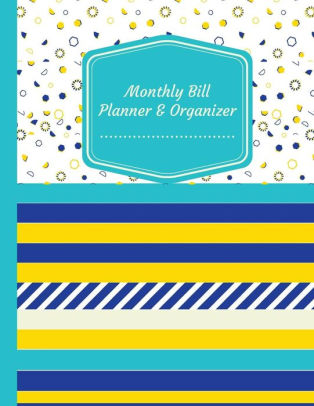 Monthly Bill Planner  Organizer Budget Planning Journal, Budget