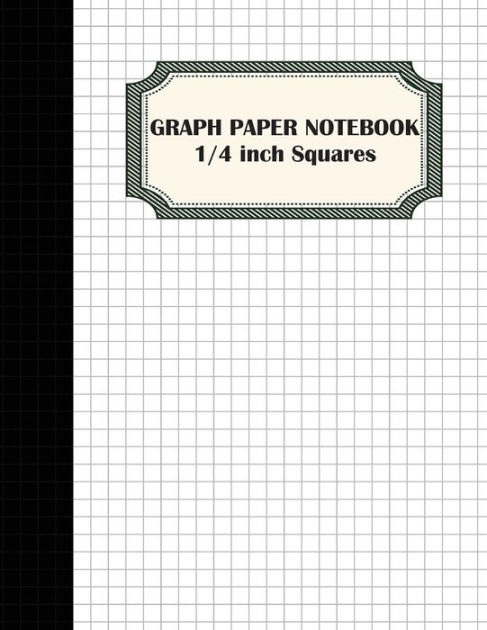 Graph Paper Notebook 1/4 inch Squares Graphing Paper - 100 Pages