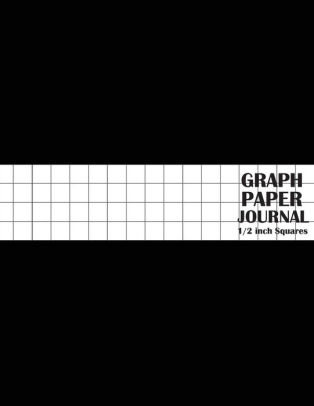 Graph Paper Journal 1/2 inch Squares Graph Paper Template - Large