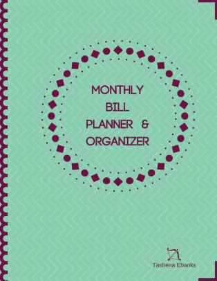 Monthly Bill Planner  Organizer Budget Planning Journal/Financial