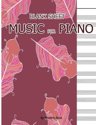 Blank Sheet Music For Piano Treble Clef And Bass Clef Staff paper