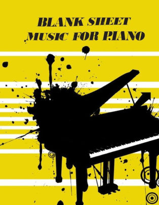Blank Sheet Music For Piano Treble Clef And Bass Clef Empty 12