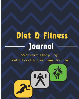 Diet  Fitness Journal Workout Diary Log with Food  Exercise