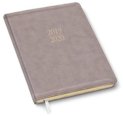 2020 18-Month Monthly Large Pearl Taupe Mid-Year Planner