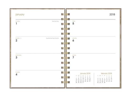 2018 Black Leatheresque Spiral Weekly Agenda by Orange Circle - weekly agenda