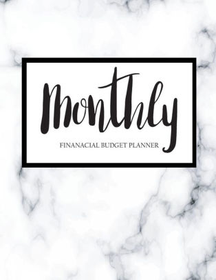 Monthly Financial Budget Planner Bill Organizer Notebook, Budget