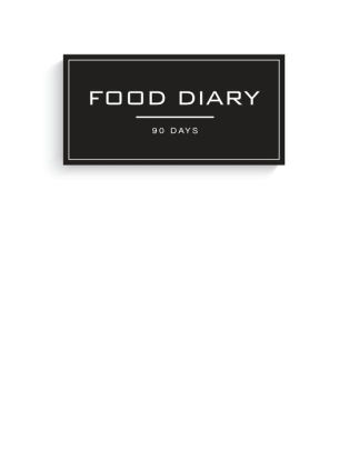 Food Diary 90 Days White Notebook, Meal and Exercise Notebook
