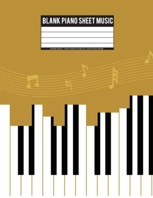 Blank Piano Sheet Music Staff Paper Notebook - 12 Stave of Treble