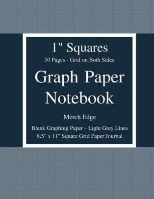 Graph Paper Notebook 1 inch Squares Grid on Both Sides No Borders