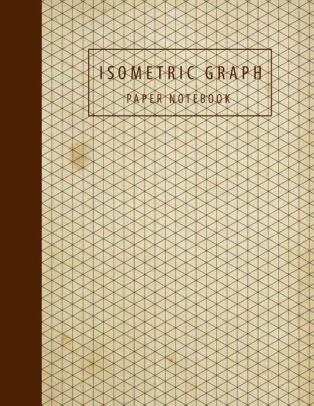 Isometric Graph Paper Notebook Isometric Drawing 3D, Composition
