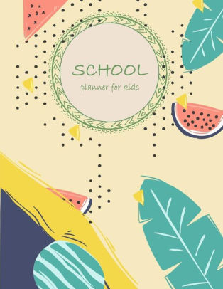 School planner for kids Planner with Class Schedules, Passwords