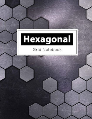 Hexagonal Grid Notebook Hexagons Light Black Grid, Hex Grid Paper