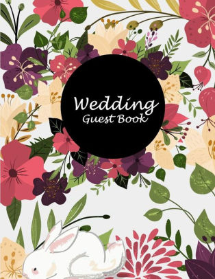 Wedding Guest Book Pretty Flower Floral, Address Book with