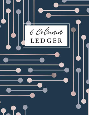 6 Column Ledger Bookkeeping Ledger Record Book, Daily Accounting