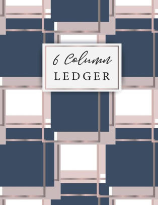 6 Column Ledger Keeping Book Financial Ledgers, Daily Accounting