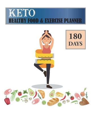 180 Days Keto Healthy Food  Exercise Planner Ketogenic Diet Meal