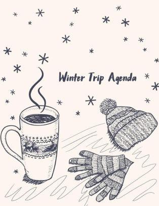 Winter Trip Agenda Vacation Planner, Trailer Travel Log Record