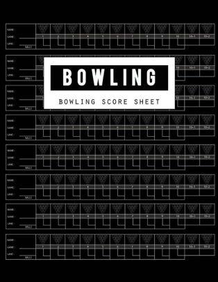 Bowling Score Sheet Bowling Game Record Book, Bowler Score Keeper