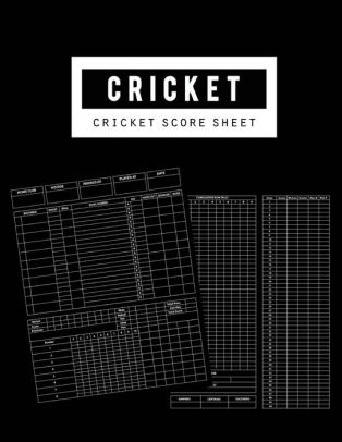 Cricket Score Sheet Cricket Score Keeper Game Record Notebook has