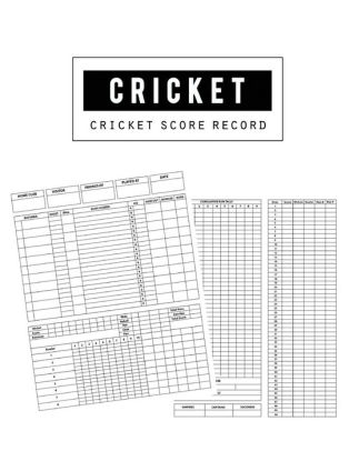 Cricket Score Record Cricket Score Keeper Game Record Notebook has