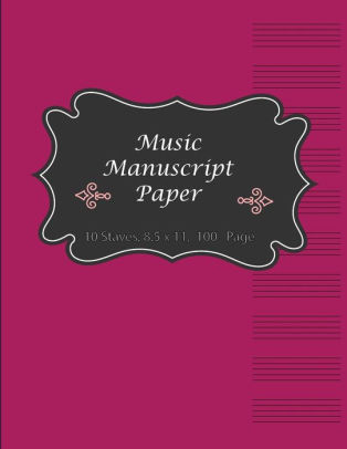 Music Manuscript Paper Music Note Book Ideal for students and music