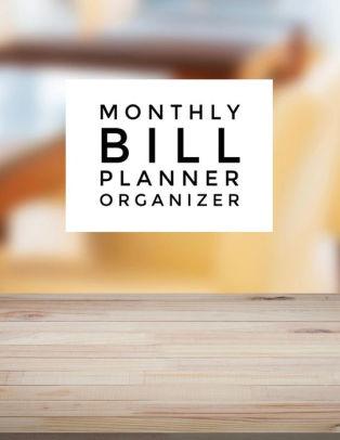Monthly Bill Planner Organizer On Table Design Budgeting Planner